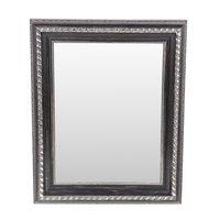 Brage spegel - Svart / silver / trä - 30x40 cm