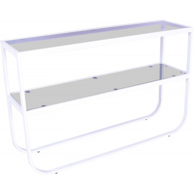 Korsbacken konsolbord - Vit/grå