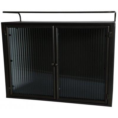 Celsius väggskåp med dubbeldörr - Metall / Glas