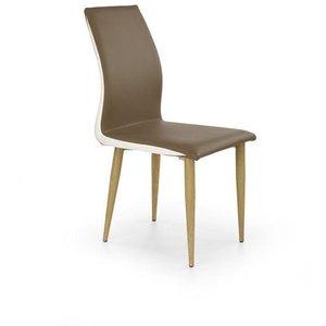 Stol Asli - Vit/brun