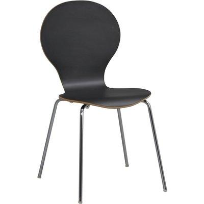 Bailey stol - Svart/krom