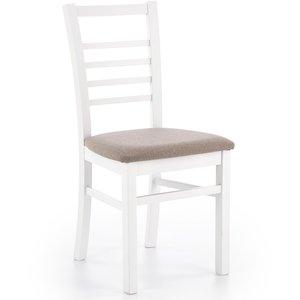 Ava matstol - Vit/grå