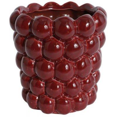 Kruka Big Bouble H16 cm - Röd (Glansig)