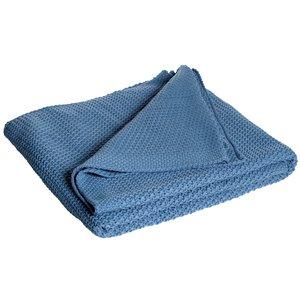 Pläd Moltas 130x170 cm - Blå thumbnail
