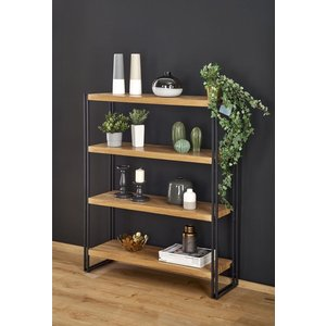 Dorine bokhylla - Ek/svart
