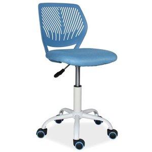 Skrivbordsstol Sidney - Vit/blå