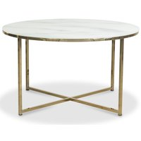 Palasso soffbord 80 cm diameter - Mässing / Ljus marmorering
