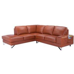Halmby hörnsoffa divan höger - Ljusbrun