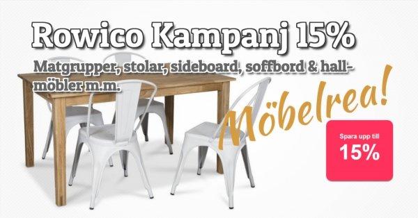Möbelkampanj Rowico - 15% rabatt!