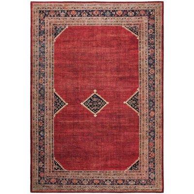 Maskinvävd matta Cleo Afghan - Röd