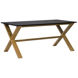 Artic matbord 140 - ek / svart