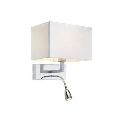 Savoy Vägglampa - Krom/Vit