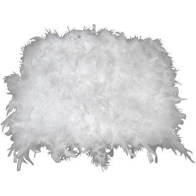 Lampskärm rund 45 cm - Vit (Fjäder)