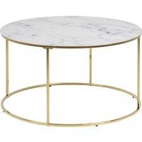 Bolton Soffbord - Vit marmor/guld