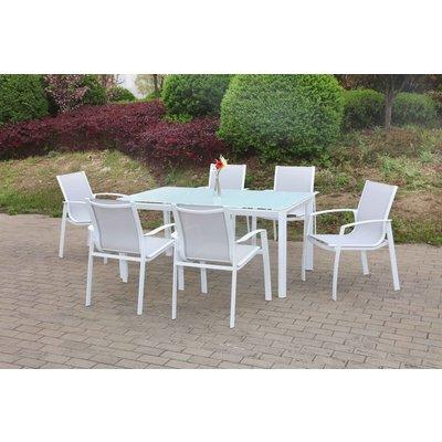 Ekeryd utematgrupp bord med 6 st stolar - Vit