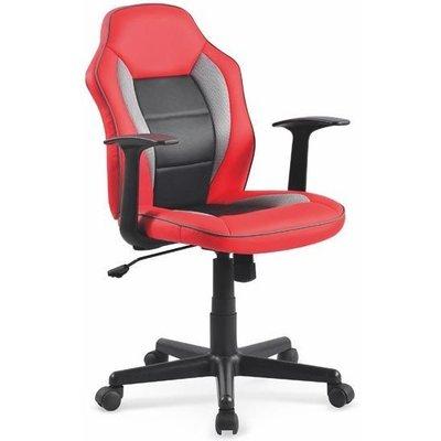 Asho skrivbordsstol - Svart/röd