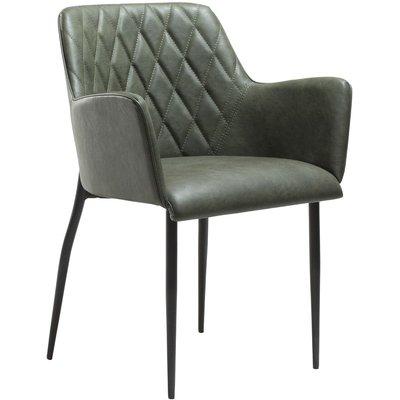 Rombo karmstol - Vintage grön / svart