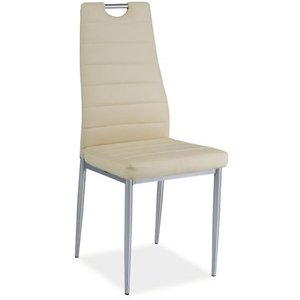 Priscilla stol - Krämvit/krom