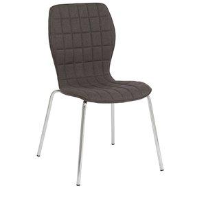 Nina stol - Grå / krom