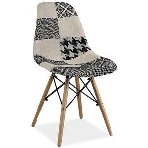 Araceli stol - Svart/vit
