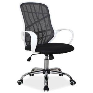 Tabitha skrivbordsstol - Vit/svart