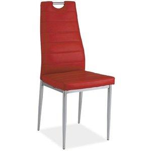 Priscilla stol - Röd/krom