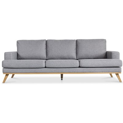Ventura 3-sits soffa - Ljusgrå (tyg)