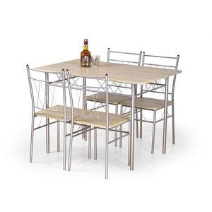 Sana matgrupp matbord 110 cm + 4 st stolar - Ljus ek