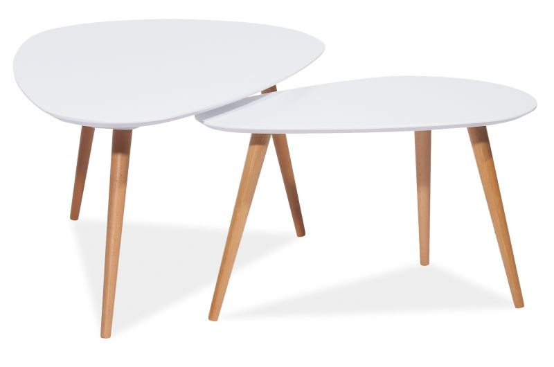 Soffbord soffbord satsbord : Satsbord Linköping - Vit/bok - 1395 kr - Trendrum.se
