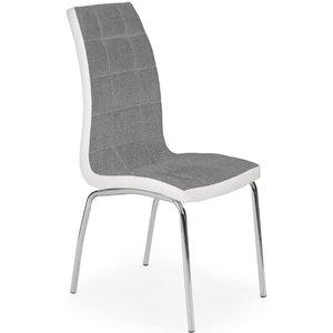 Ward matstol - Grå/vit (Tyg/PU) / Krom